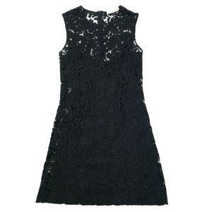 Prada Lace Mini Dress w/ Silk Slip Size 40 ITALY